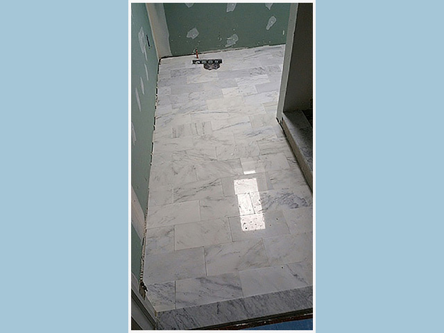 Marble Floor No Grout Lines